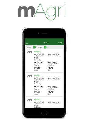 Image of phone screen displaying mAgri app