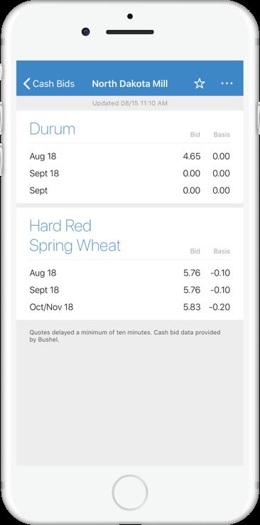 Image of phone screen displaying cashbid data