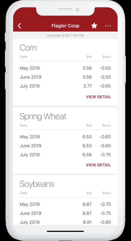 Image of phone screen displaying cashbids on app